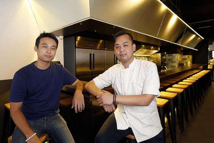 Wanton Seng's Noodle Bar is a joint venture between Mr Benson Ng (left) from Seng's Wanton Noodles and Chef Brandon Teo (right), culinary director of The Establishment Group.