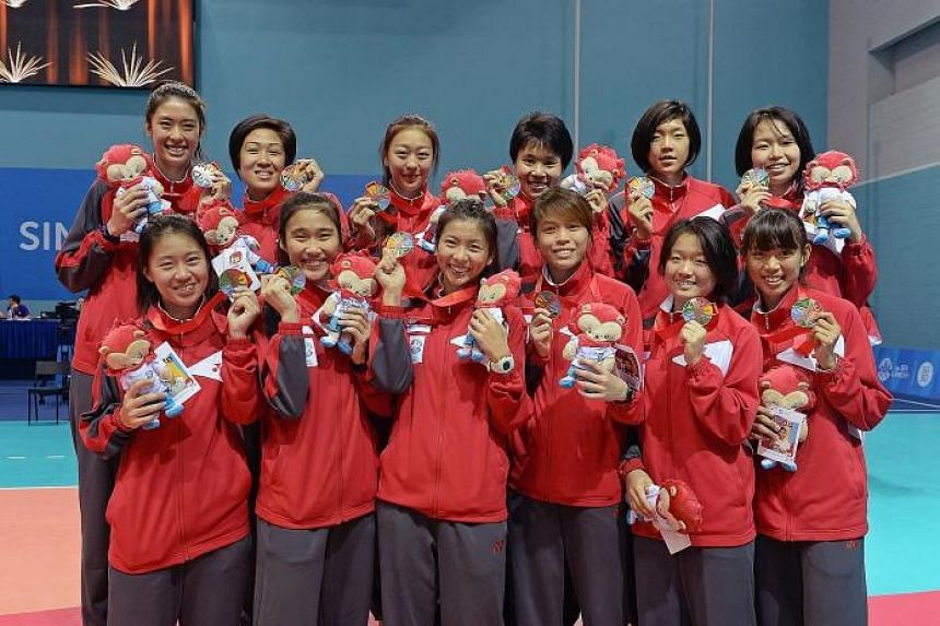 The women's team made a breakthrough by winning bronze, the Republic's first volleyball medal at the SEA Games in 34 years.