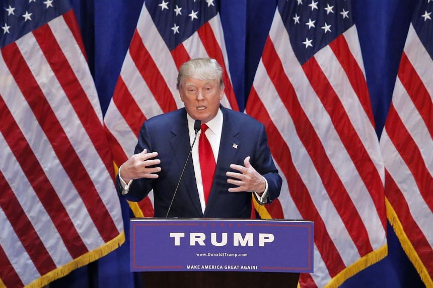 Real estate mogul Donald Trump announces his bid for the presidency in the 2016 presidential race during an event at the Trump Tower.