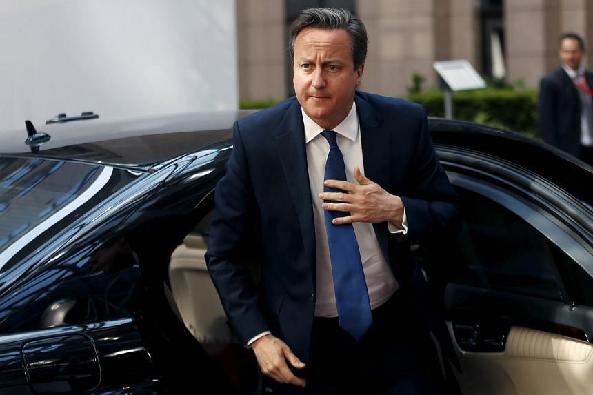 Britain's Prime Minister David Cameron attending an EU-CELAC Latin America summit in Brussels, Belgium.
