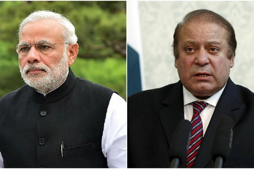 Indian Prime Minister Narendra Modi (left) and Pakistani Prime Minister Nawaz Sharif.