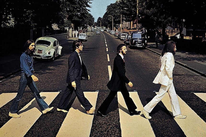 The Abbey Road crossing made famous by The Beatles.
