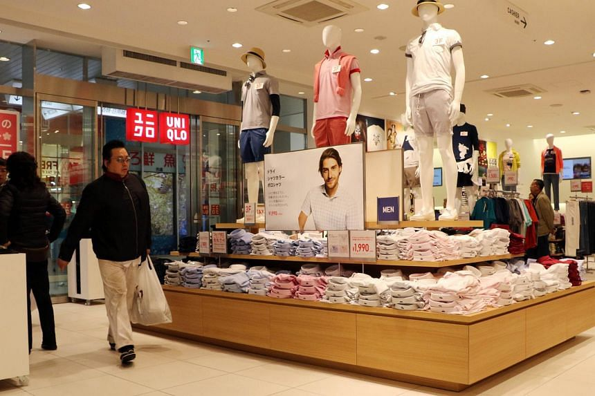 A Uniqlo store in Tokyo on April 9, 2015. The Japanese fashion giant is operated by Fast Retailing.