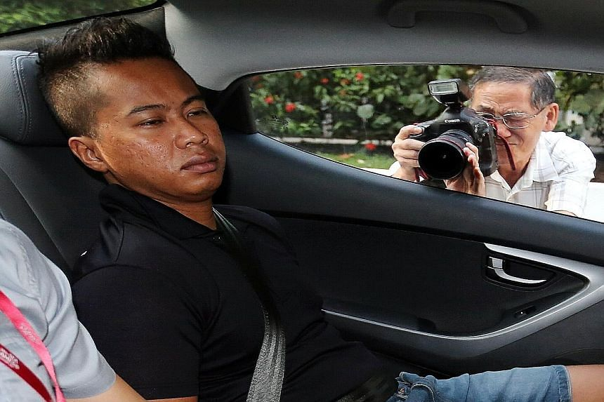 Ashyik is accused of damaging a Toh Guan Road flat in connection with an illegal loan taken by the victim's neighbour. ST PHOTO: WONG KWAI CHOW