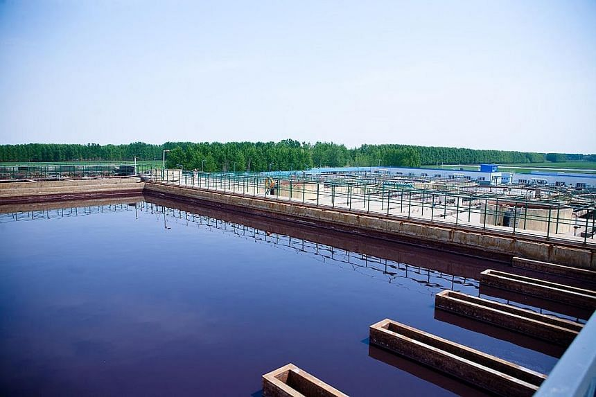 United Envirotech's wastewater treatment facility. The company conducts most of its business in China. Its share price has risen by 7.8 per cent over the past 12 months.