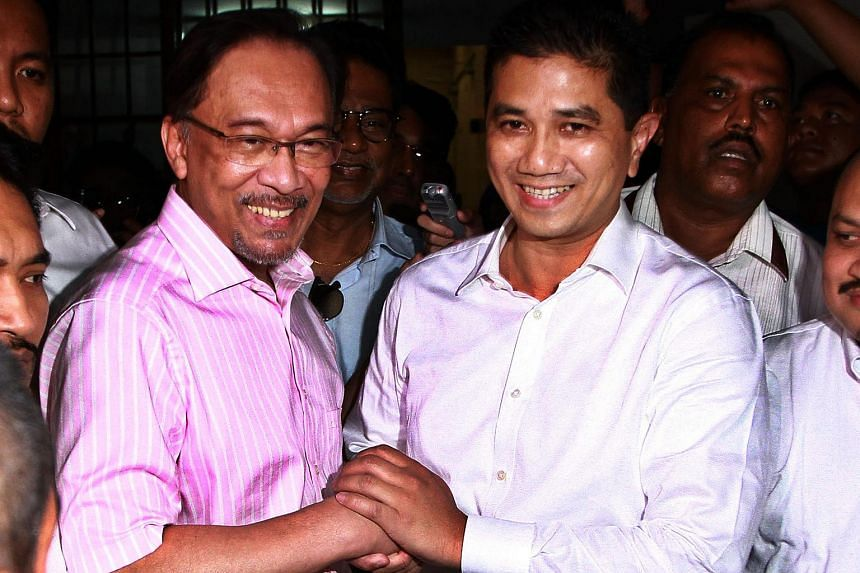 The opposition alliance lost Anwar Ibrahim (left) to jail in February. While the alliance is practically over, the parties are likely to maintain ties over Selangor, run by PKR deputy president Azmin Ali (right).