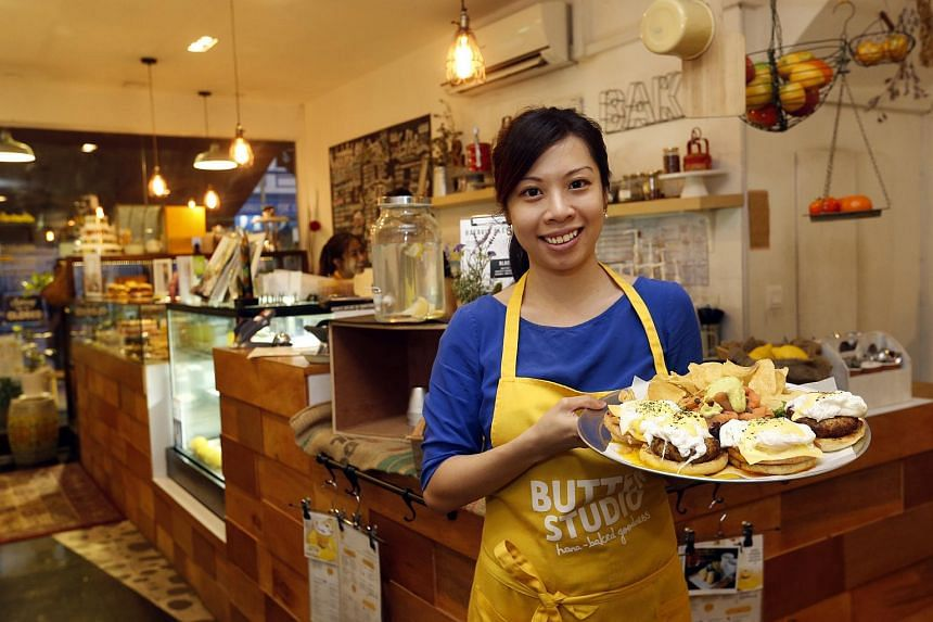 Owner of Butter Studio Shannon Lua (above) with her Ramadan platters.