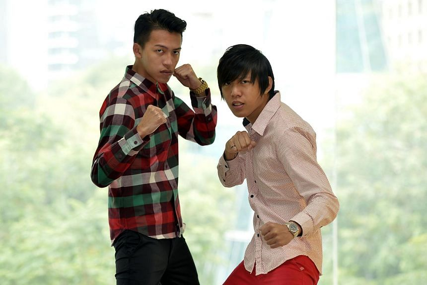 Ah Boys To Men cast members Tosh Zhang (left) and Wang Weiliang's greatest challenges were homesickness and the language barrier.