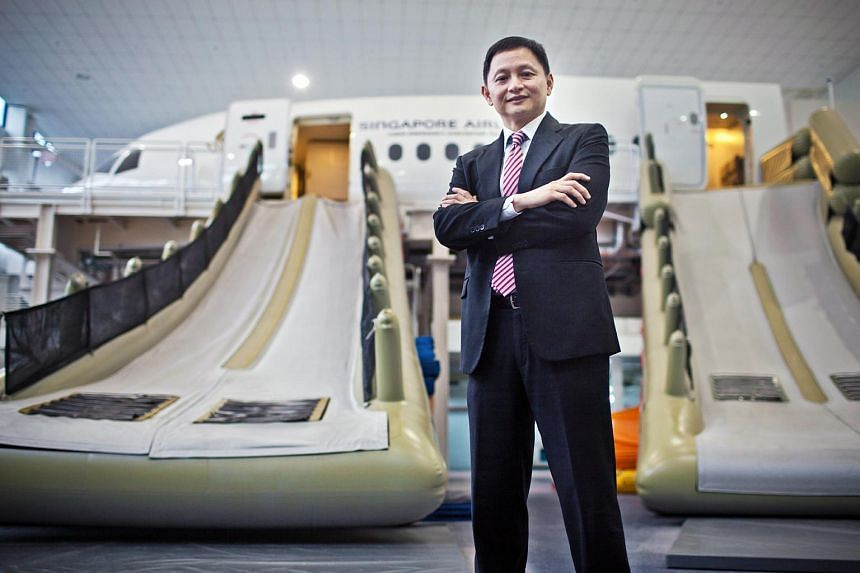 Goh Choon Phong, chief executive officer of Singapore Airlines Ltd., poses for a photograph at the SIA Training Centre in Singapore.