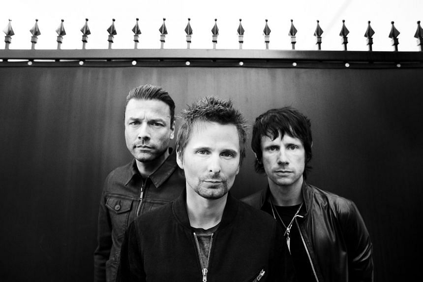 British trio Muse are made up of (from left) Christopher Wolstenholme, Matthew Bellamy and Dominic Howard.