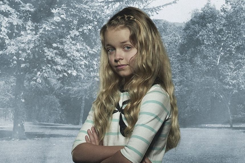 In The Whispers, Kylie Rogers (above) and Kyle Harrison Brietkopf play children who are being manipulated by their imaginary friend to do evil things.