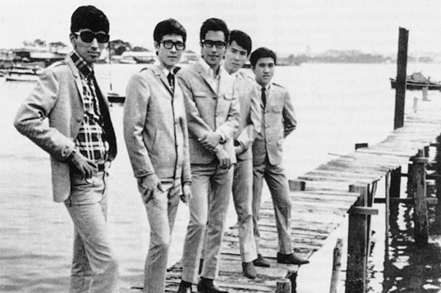 A picture of The Quests taken in 1966. From left, Reggie Verghese (lead guitar), Henry Chua (bass), Vernon Cornelius (vocals), Jap Chong (rhythm guitar) and Lim Wee Guan (drums).