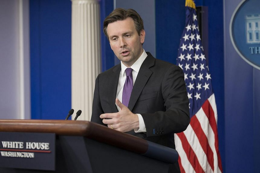 White House Press Secretary Josh Earnest holds the daily news conference at the White House following votes on trade legislation in the US House of Representatives.