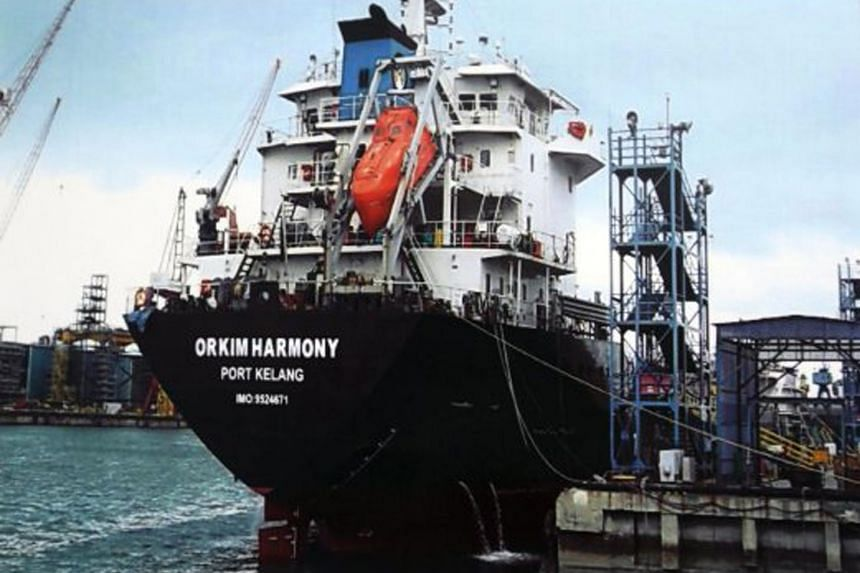 "The hijacked tanker MT Orkim Harmony has been given fresh touches of paint and had its name altered to ""Kim Harmon"" by the pirates."