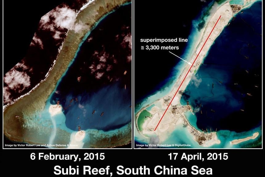 China's intrusion into Malaysia-held shoals in the South China Sea may have been more extensive than reported by Kuala Lumpur, it was reported.