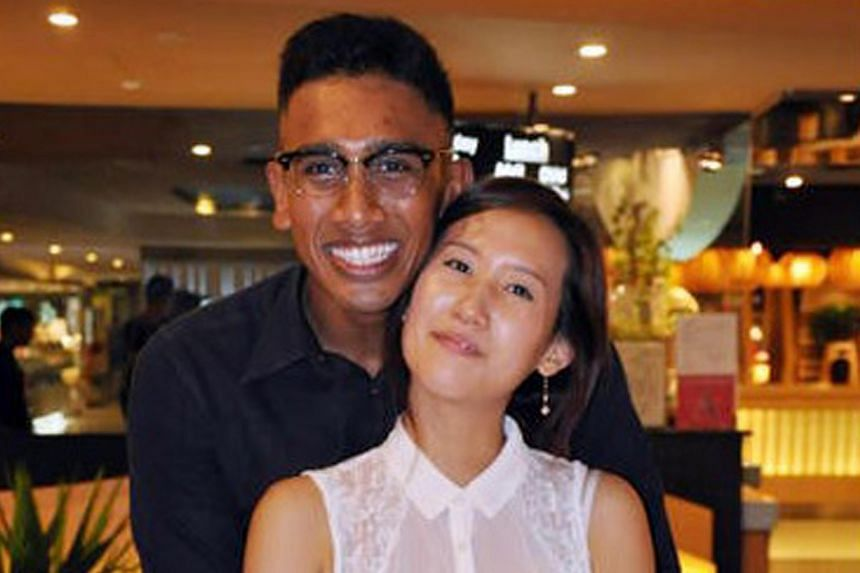 The wrecked car and two of the victims, Mr Amron Ayoub and his girlfriend Song Ji Soo (right). Her parents were also killed in the crash.