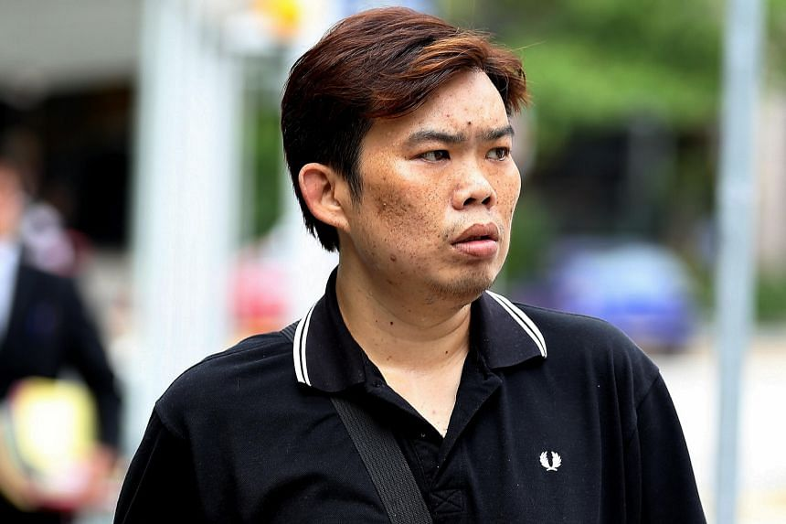 Koh Guan Seng, Kelvin Lim Zhi Wei (above), Kam Kok Keong and Lim Hong Ching, employees of the now-defunct Mobile Air phone shop, have been charged with cheating