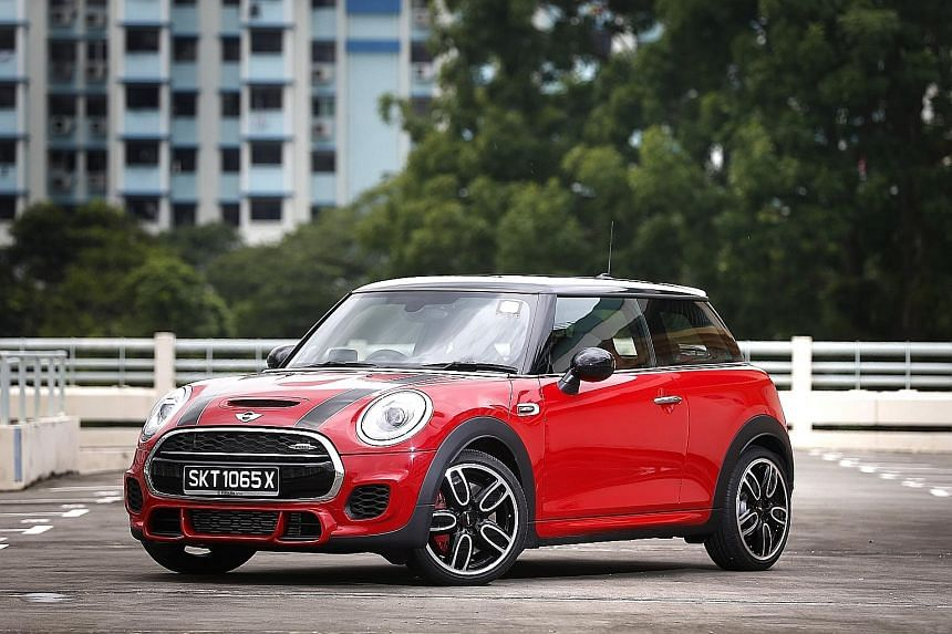 The new Mini JCW is about 20 per cent more fuel-efficient than its predecessor.