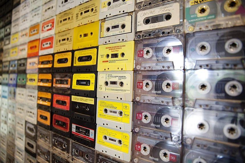 Audio cassettes.