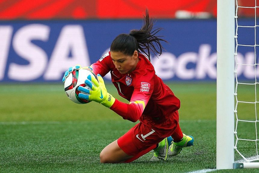 Hope Solo has been dogged by allegations over a domestic abuse case and US Soccer has shielded the goalkeeper from the media. On the field, she and her team-mates have shown they are not distracted.