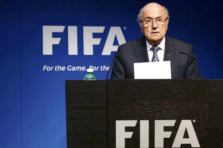 Fifa President Sepp Blatter addressing a news conference at the Fifa headquarters in Zurich, Switzerland on June 2, 2015.