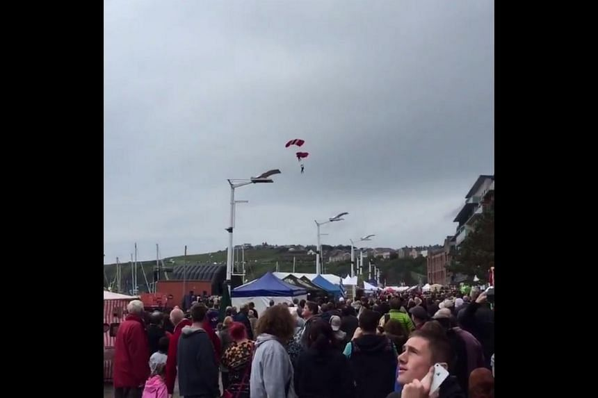 A screengrab from a video posted on social media showing the dramatic catch.