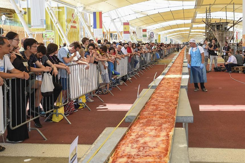 Italy served up a sizzling margherita over 1.5km long at Milan's 2015 Expo.
