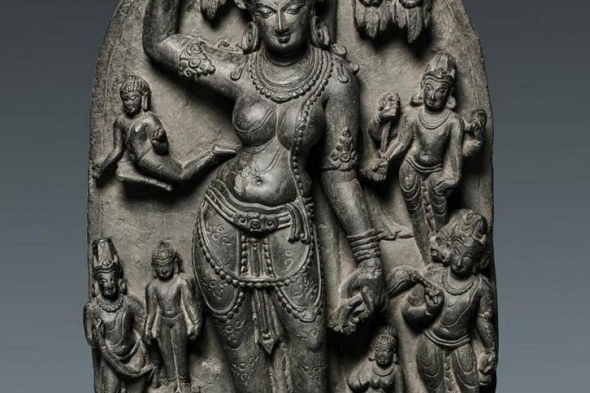 Queen Maya giving birth to Siddhartha Gautama