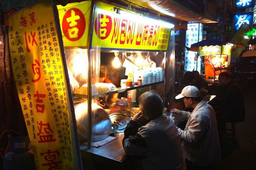 Mr Liao Rong-ji owns a hawker stall that sells traditional Taiwanese steamed buns.