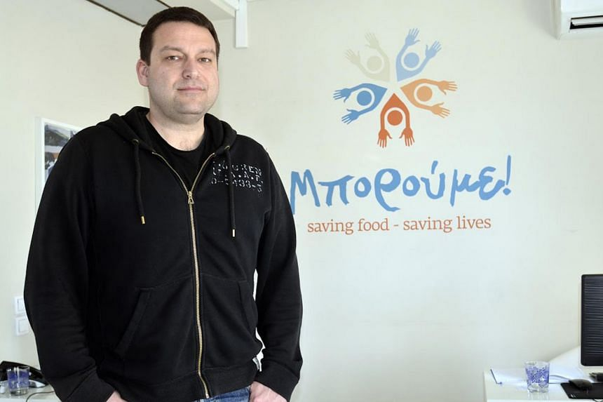 Mr Alexandros Theodoridis, a founder of Boroume, which helps distribute surplus food to Greek charities.