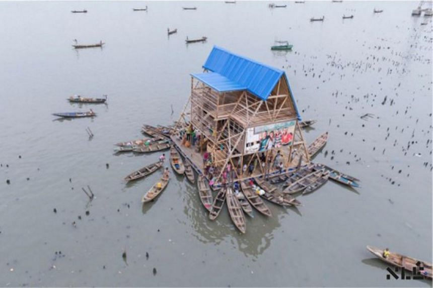 "Nigerian architect Kunle Adeyemi built this ecofriendly ""Floating School"" for Makoko slum children to get an education."