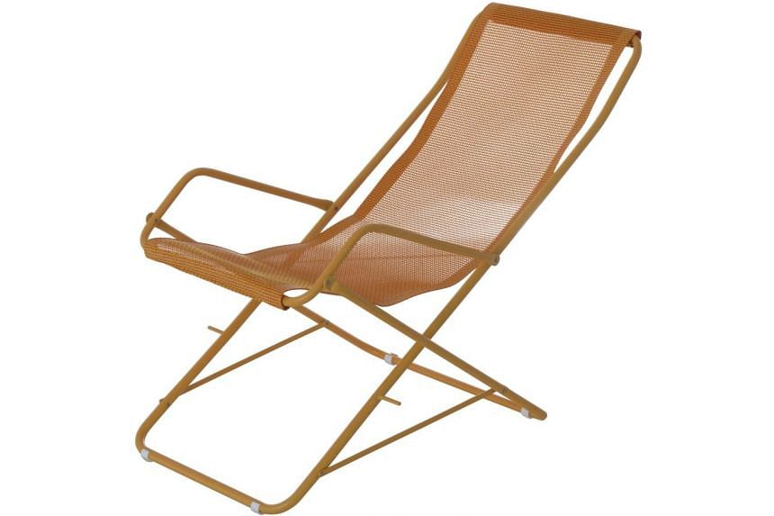 The Emu Bahama Deck Chair is fitted in a comfortable reclining position and is perfect for sunbathing. Available at Marquis Qsquare, it comes in seven colours and costs $341.