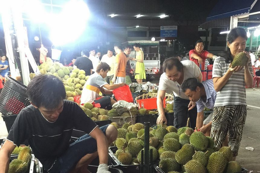 Durian lovers are in for a big treat as the better harvest this season spells lower prices for the fruit. The Mao Shan Wang variety, for instance, can be bought for as low as $9.90 a kg in Geylang, down from the usual $18.