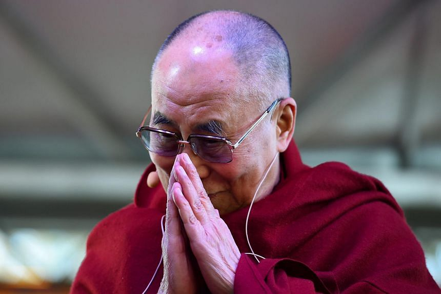 The Dalai Lama greets a gathering at Katoomba public school, at Katoomba, in the Blue Mountains, west of Sydney, Australia, on June 8, 2015.