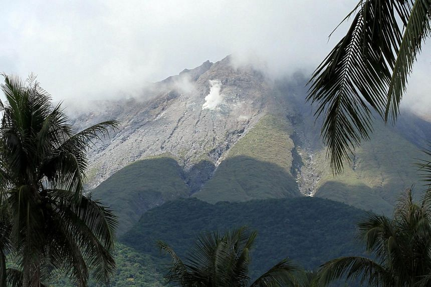 Bulusan volcano as seen from a highway in Irosin town, Sorsogon province, south of Manila on May 8, 2015.
