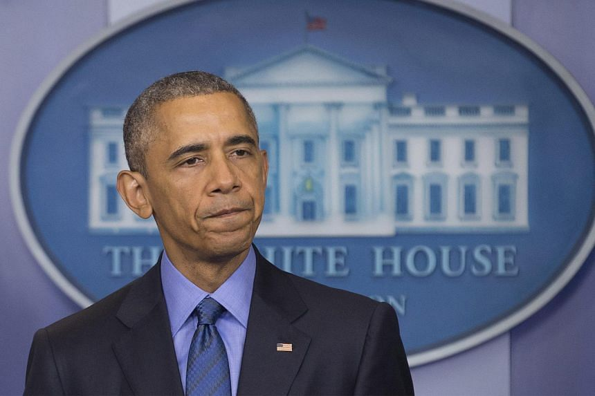 US President Barack Obama delivers remarks on the shooting deaths of nine people at a church in Charleston, South Carolina.