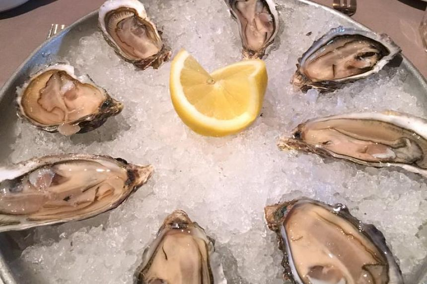 The Michelin-starred Le Galopin restaurant in Rennes serves fresh oysters from a village near the walled city of St Malo along the coast.
