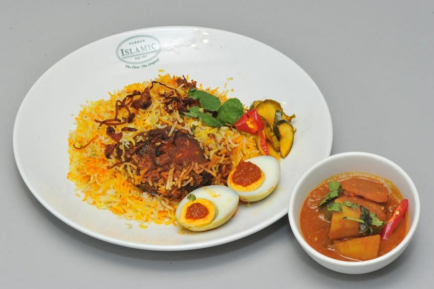 Islamic Restaurant, which opened in 1921, will be serving the fish version (below) of its famous nasi briyani.