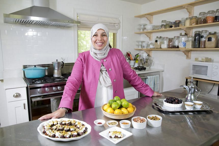Ms Yvonne Maffei, who writes a cooking and nutrition blog, My Halal Kitchen, with a dish of medjool dates stuffed with almonds and covered with creme fraiche, citrus and pistachios.