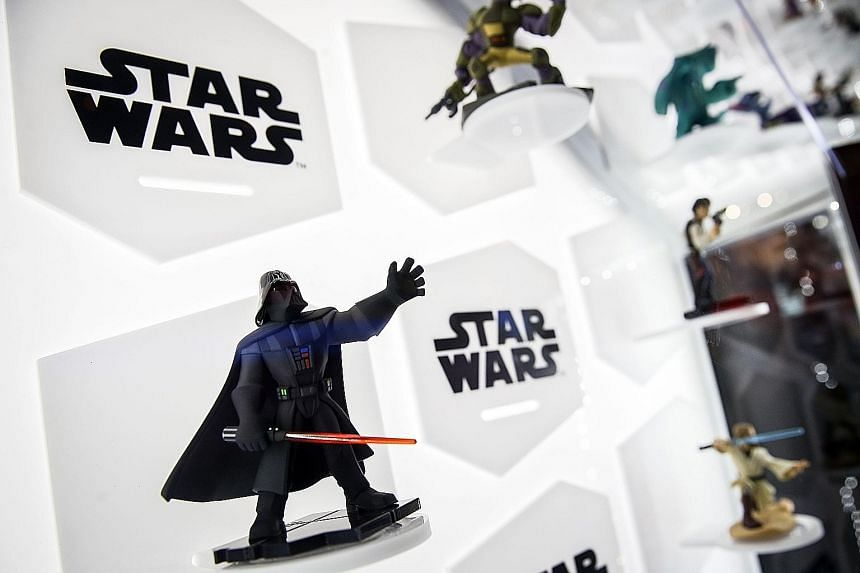 The Star Wars Darth Vader character for the Disney Infinity gaming system, seen at the E3 Electronic Entertainment Expo in Los Angeles.