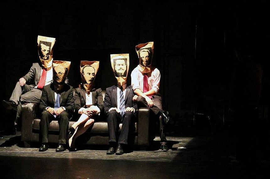 The Imagination Of The Future (above) by Chilean theatre troupe Teatro La Re-sentida had shocked some critics for its portrayal of the late president Salvador Allende.