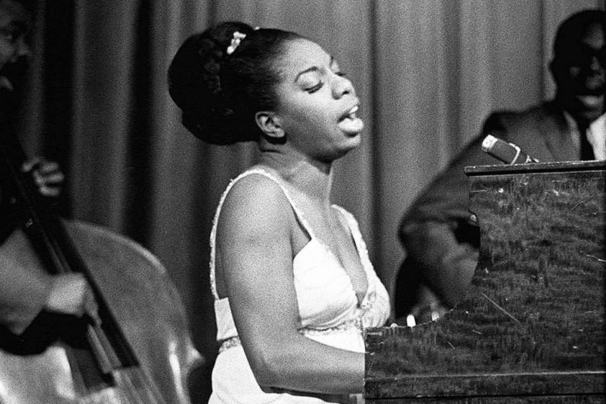 Jazz singer Nina Simone (above, in a photo taken in New York in 1965) has not been forgotten, with artists such as Lauryn Hill and Kanye West keeping her relevant in their music.