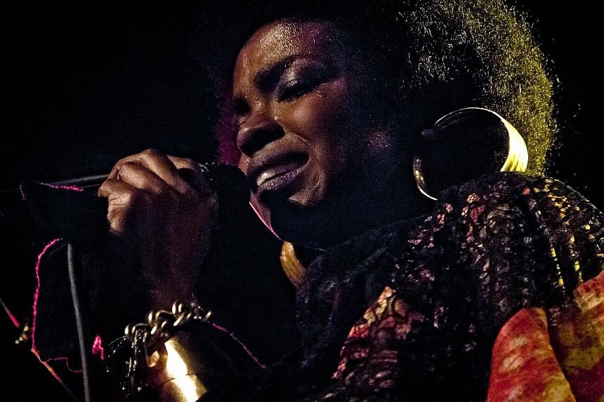 Jazz singer Nina Simone (left, in a photo taken in New York in 1965) has not been forgotten, with artists such as Lauryn Hill (below left) and Kanye West (below) keeping her relevant in their music.