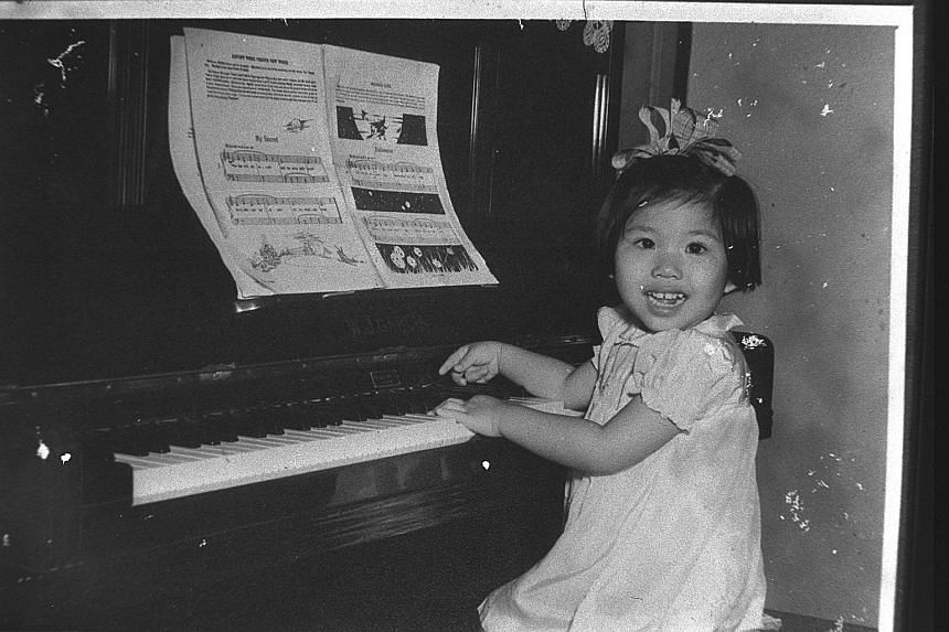 Vivien Goh (above) when she was four.