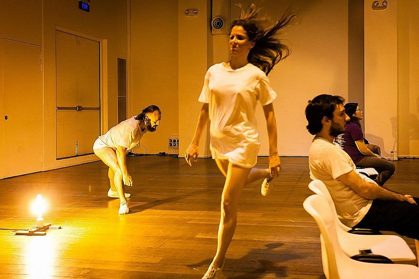 Biomashup was an intimate experience as dancers were allowed to weave around the audience at close range.