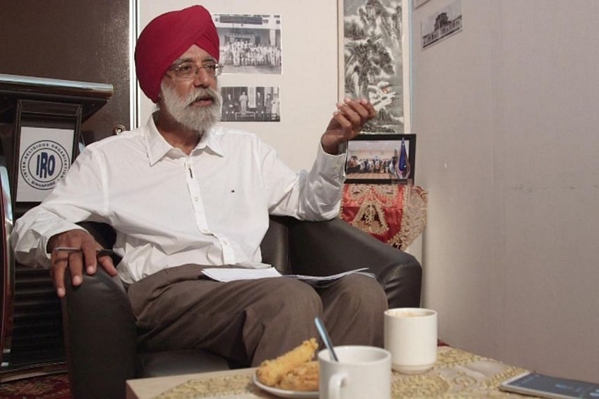 The Inter-Religious Organisation (IRO) president Gurmit Singh on the group's role in promoting religious harmony. - ST PHOTO: T. KUMAR