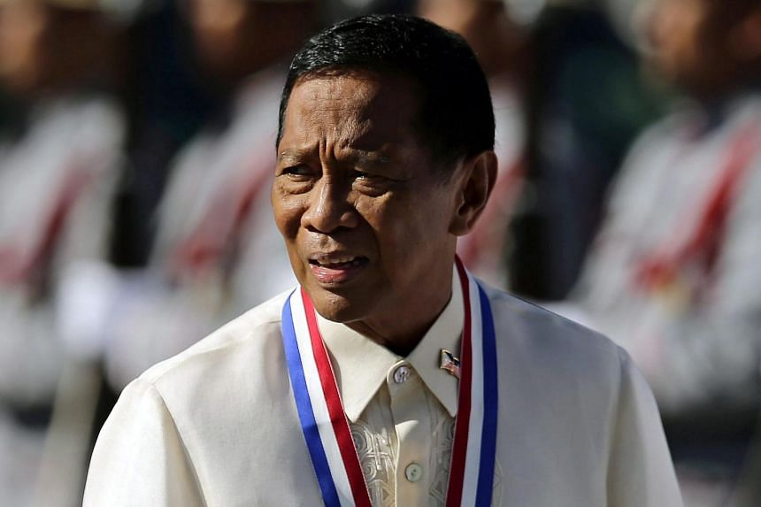 Philippine Vice-President Jejomar Binay, who is running for president next year, has resigned from the cabinet in a break with President Benigno Aquino as he is investigated for corruption.