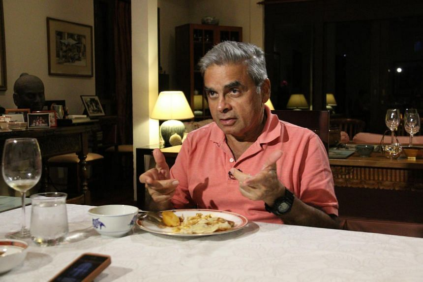 Professor Kishore Mahbubani, dean of the Lee Kuan Yew School of Public Policy, shares his thoughts on the new political environment in Singapore and what is in store for the country. - ST PHOTO: KEMBURAJU THANGARAJAN