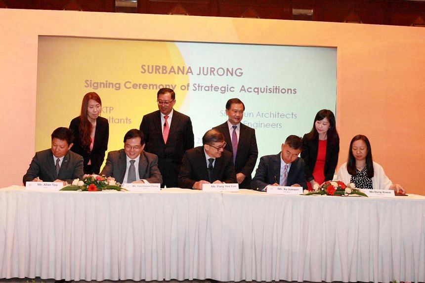 Surbana Jurong announces acquisition of KTP Consultants and Sino-Sun Architects & Engineers at Raffles City Convention Centre.