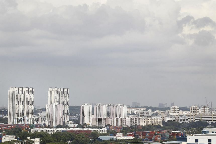 The industrial area along Jurong Port Road and Corporation Road.